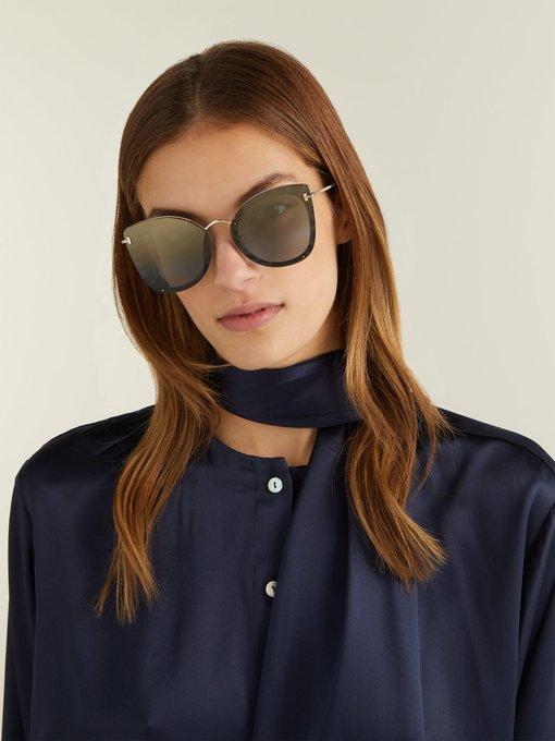 0bd9fb6ec4871 Tom Ford Eyewear Charlotte oversized cat-eye acetate sunglasses.  outfit 1264959