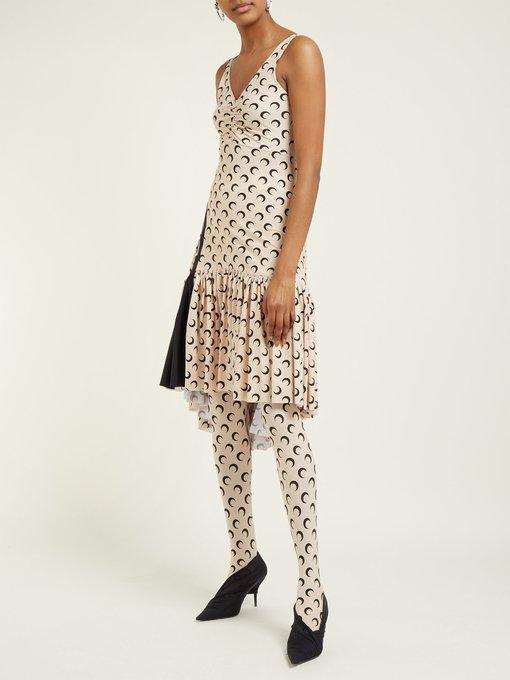 856f50c10e Crescent Moon-print stretch-jersey dress