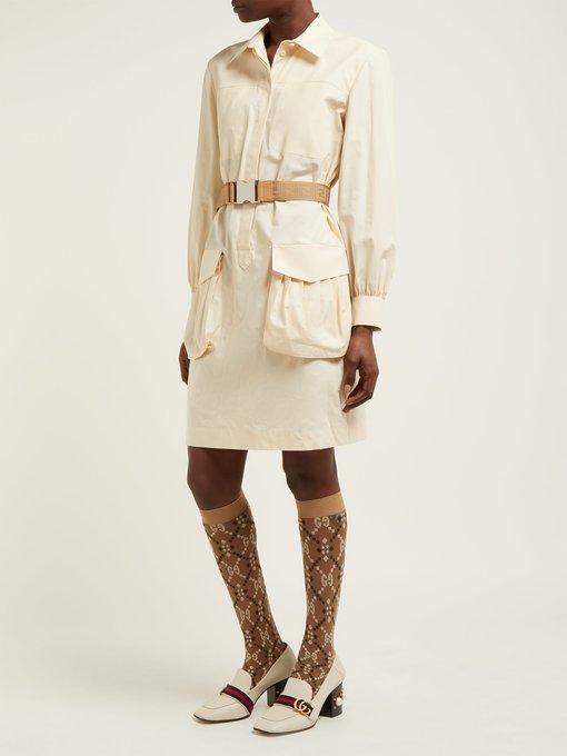 5655466a595 Gucci Logo-jacquard sheer knee-high socks. outfit 1271312
