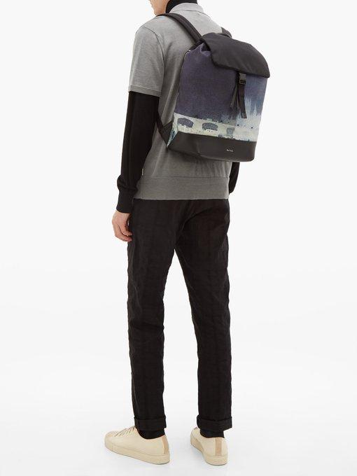 4b7bf898e Add to wishlist Go to WishList. Paul Smith London photo-print canvas  backpack