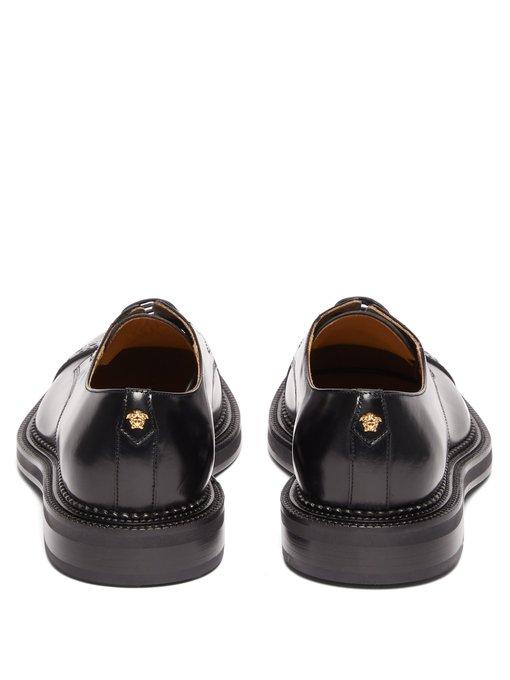Medusa-plaque leather derby shoes