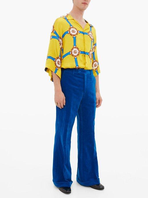 9d6e68995 Add to wishlist Go to WishList. Gucci Oversized harness-print silk-twill  shirt