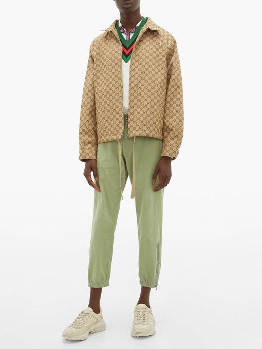 621cc25957 GG-jacquard canvas bomber jacket | Gucci | MATCHESFASHION.COM AU