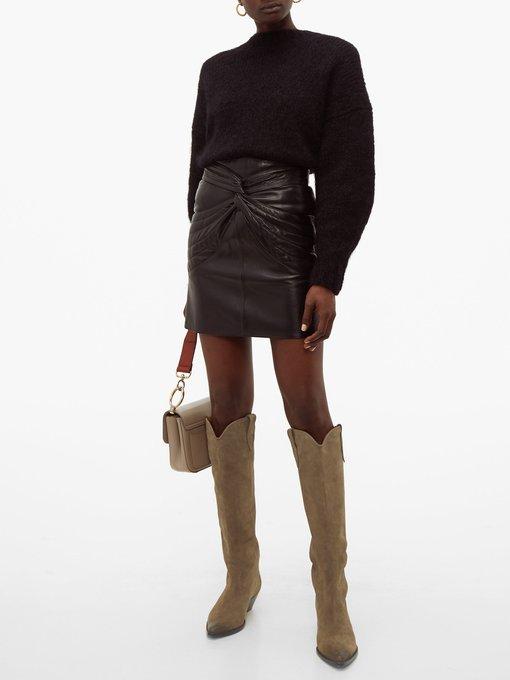Denvee suede knee-high boots | Isabel