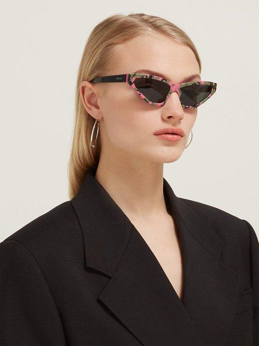d5008535b37 Prada Eyewear Disguise cat-eye camouflage acetate sunglasses. outfit 1287059