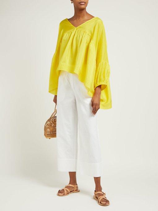 b1c6d985816c96 Anaak Airi gathered silk-satin blouse. outfit 1288569