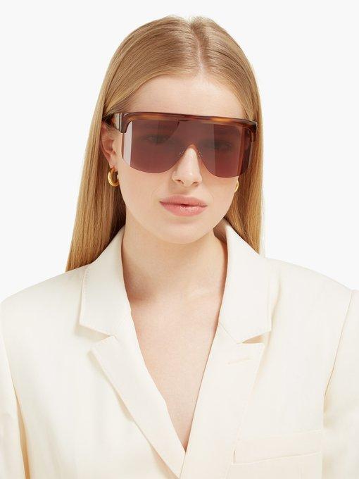 6e1dd42d33 Loewe Show D-frame visor sunglasses. outfit 1302276
