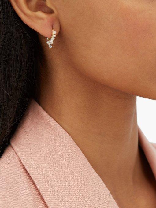 Coronet Diamond Pearl 18kt Gold Single Earring Maria Tash