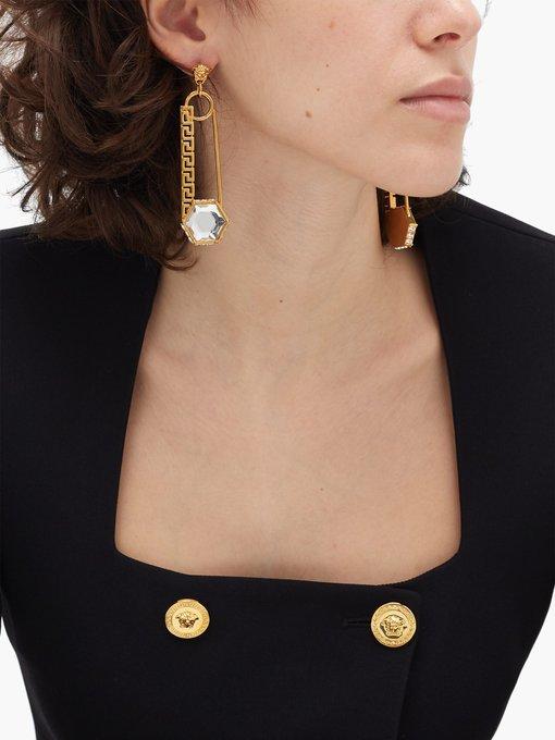 Boucles d'oreilles à pendant épingle à nourrice   Versace