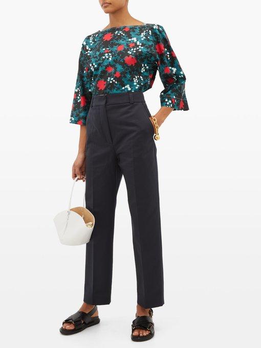 Femme Satin de Coton Tailored Trouser