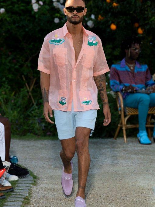 Voilier Mid Rise Cotton Blend Seersucker Shorts Casablanca