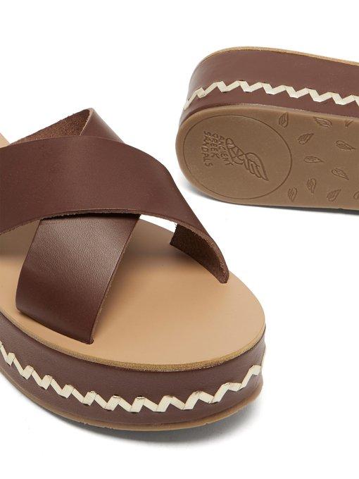 Sandales à plateforme en cuir Thais | Ancient Greek Sandals