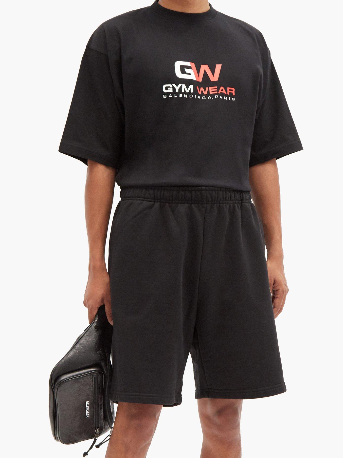BALENCIAGA Cottons Gym Wear-print cotton-jersey T-shirt