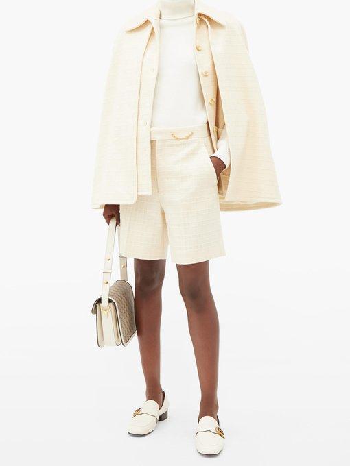 SHAY Embellished Tweed Shorts