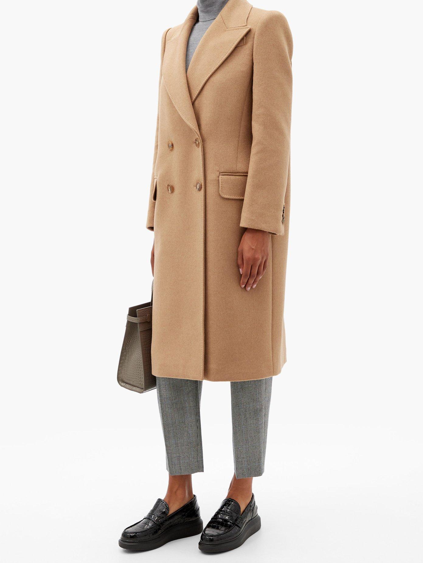 ALEXANDER MCQUEEN Coats DOUBLE-BREASTED CAMEL-HAIR COAT